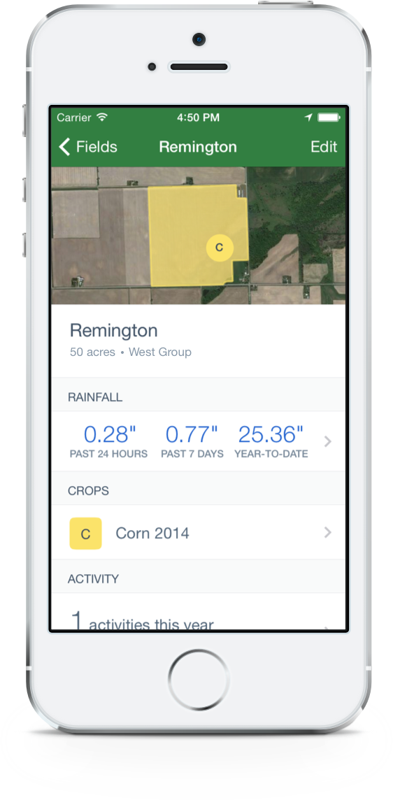 Unlocking Profitability through Farm Data rainfall iOS
