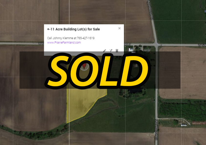 11 acre building lot for sale in west lafayette indiana for Build on your lot indiana