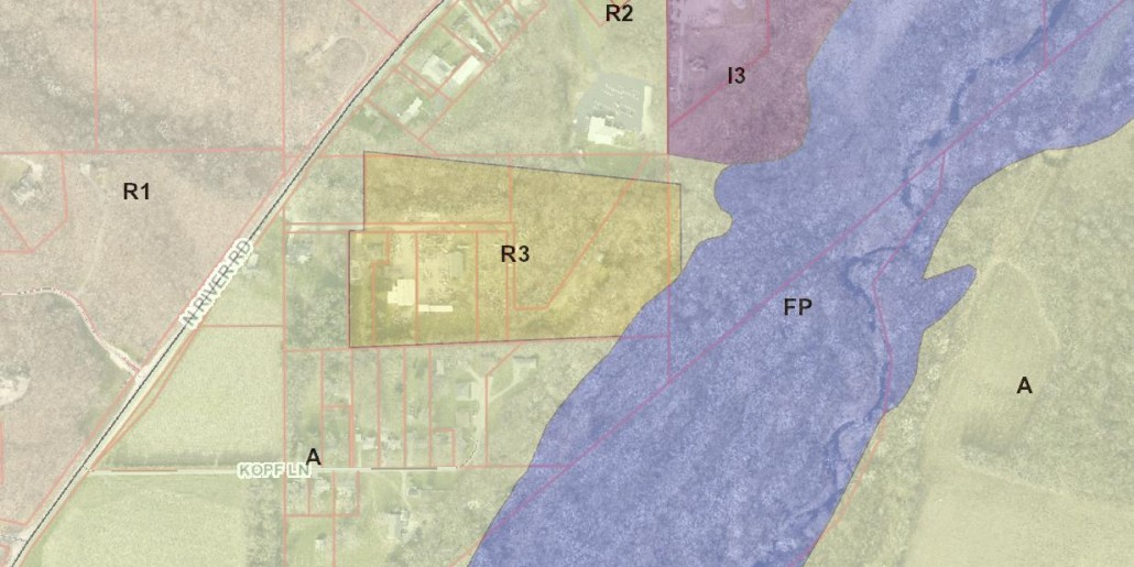 ZONING MAP  27 Acres Development Land R3 West Lafayette ZONING MAP