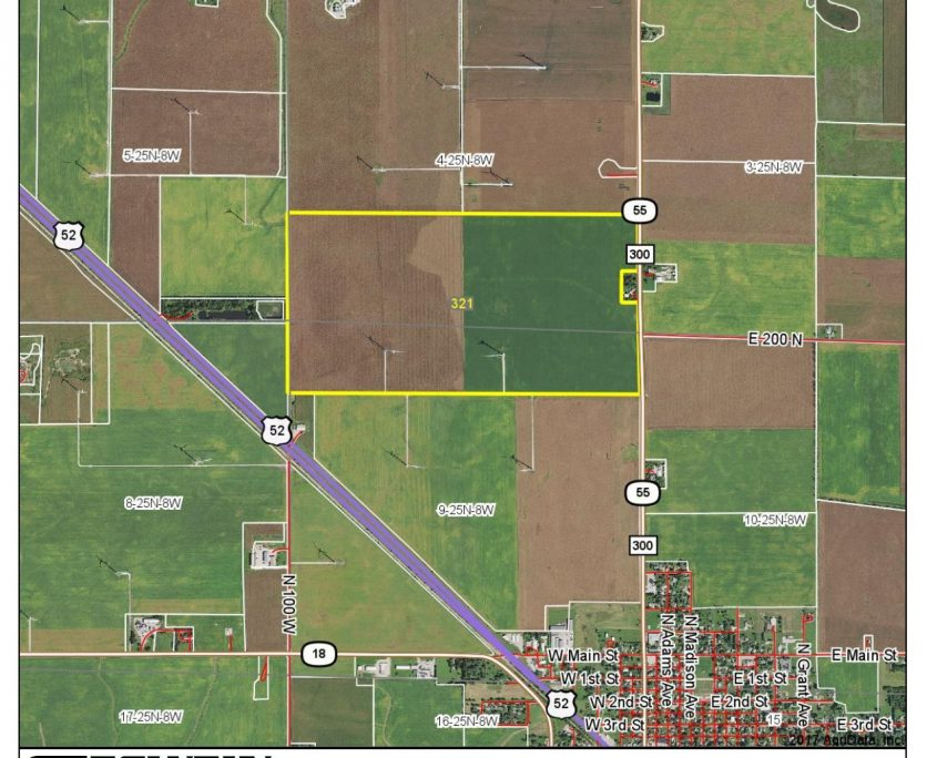Acre Farm For Sale In Indiana Wind Turbine Income Investment Land - Surety maps